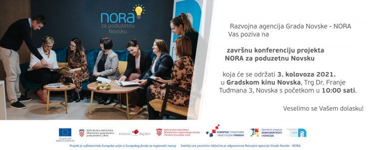 POZIVNICA za zavrsnu konferenciju projekta NORA NOVSKA